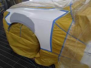 210クラウン 左フロントフェンダー 板金・塗装